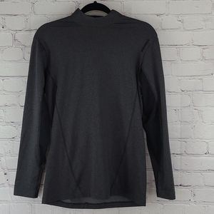 Reebok Gray and Black Play Dry Long Sleeve Shirt